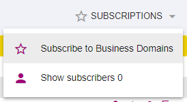 Subscription button in List View of BBT Business Object